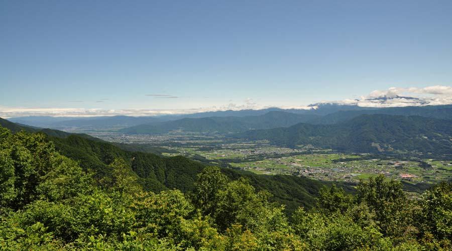 長野県松川町の景色